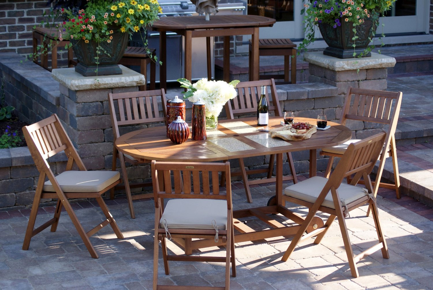 Nice Outdoor Interiors S10666G 7 Piece Patio Dining Set Review