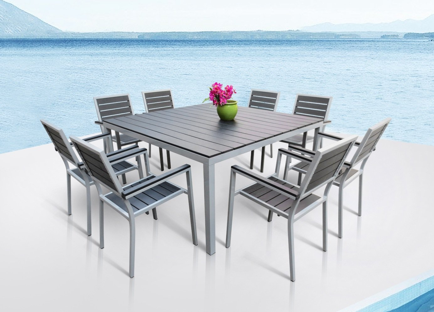 mango home 9piece patio dining set