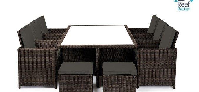Reef Rattan Bahama 6 Cube Patio Dining Set Review