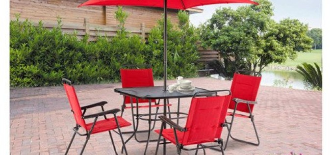 Mainstays Searcy Lane 6-Piece Padded Folding Patio Dining Set Review