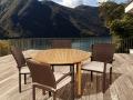 Amazonia Teak Colorado 5-Piece Teak Wicker Patio Dining Set 2