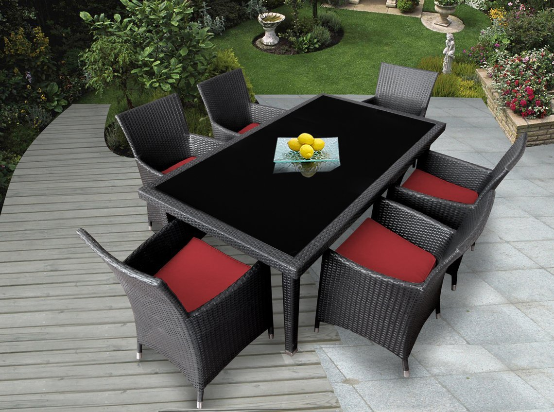 Genuine ohana outdoor patio wicker furniture 7pc all for Furniture 7 reviews