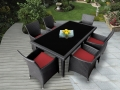 Genuine Ohana Outdoor Patio Wicker Furniture 7pc All Weather Dining Set