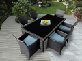 Genuine Ohana Outdoor Patio Wicker Furniture 7pc All Weather Dining Set 5