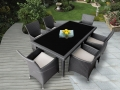 Genuine Ohana Outdoor Patio Wicker Furniture 7pc All Weather Dining Set 9