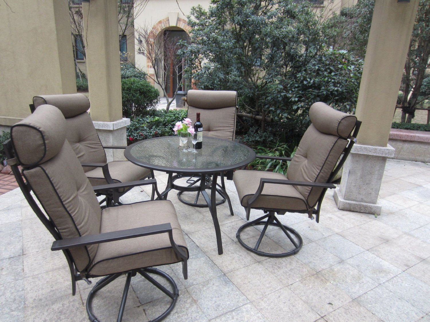 pebble lane living 5 piece patio dining set review best. Black Bedroom Furniture Sets. Home Design Ideas