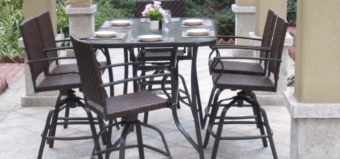 Pebble Lane Living 7 Piece Handwoven Outdoor Wicker Patio Bar Dining Set  Review