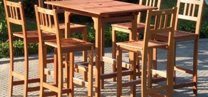Pebble Lane Living 7-Piece Outdoor Premium Wood Patio Bar Dining Set Review