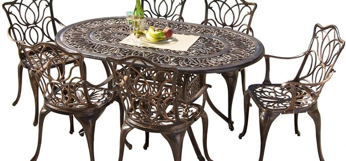 Gardena Cast Aluminum Outdoor Dining Set (Set of 7) Review
