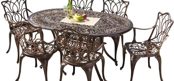 Gardena Cast Aluminum Outdoor Dining Set (Set of 7) Review