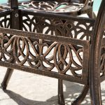 Gardena Cast Aluminum Outdoor Dining Set
