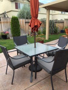 Gramercy Home 5-Piece Patio Dining Table Set