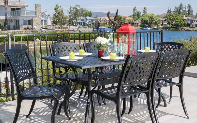 Marietta Outdoor 7 Piece Cast Aluminum Dining Set Review
