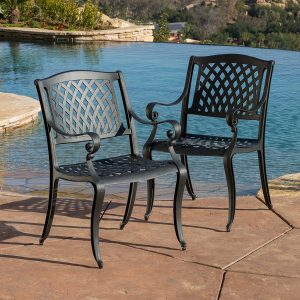 Marietta Outdoor 7-Piece Cast Aluminum Dining Set