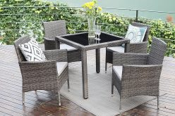 Wisteria Lane Wicker Rattan Patio Dining Table Review