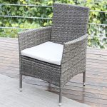 Wisteria Lane Wicker Rattan Patio Dining Table